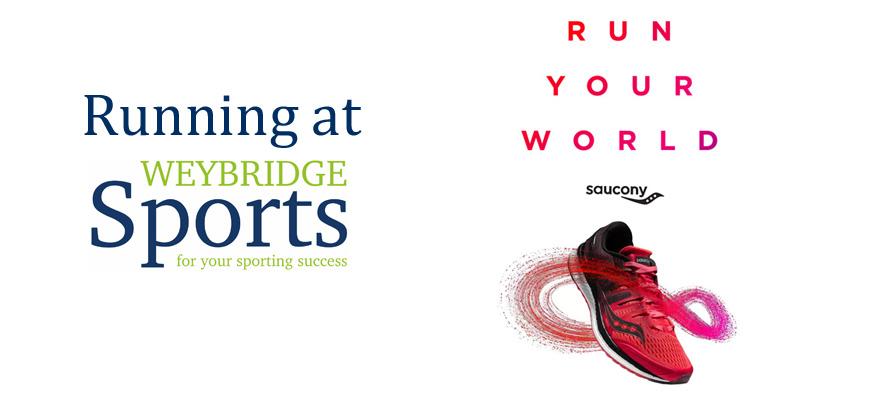 Saucony running at Weybridge Sports